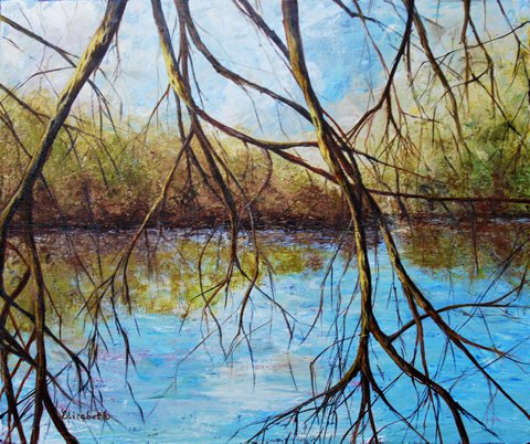 River Through Trees by Beth Maddox